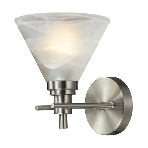ELK Lighting 11400/1 1 Light Bath In Brushed Nickel Brushed Nickel $25 Parcel Delivery