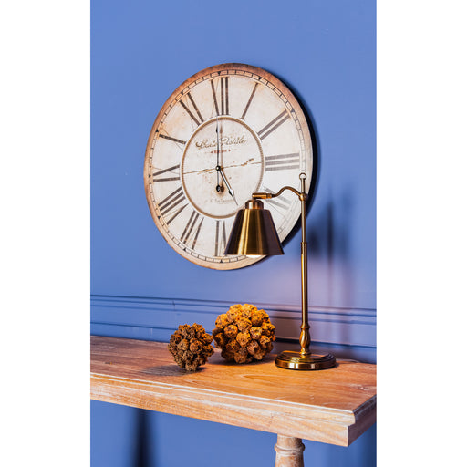 118-042 Carte Postal Clock Antique Cream, Black