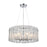 ELK Lighting 11913/6 Glass Symphony 6 Pendant Polished Chrome Polished Chrome Free Parcel Delivery