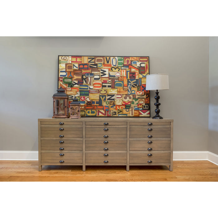 12002 Merrimac Credenza Faded Grey Driftwood