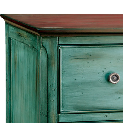 12027 Hartford Chest Aged Blue, Moonstone, Wood Tone