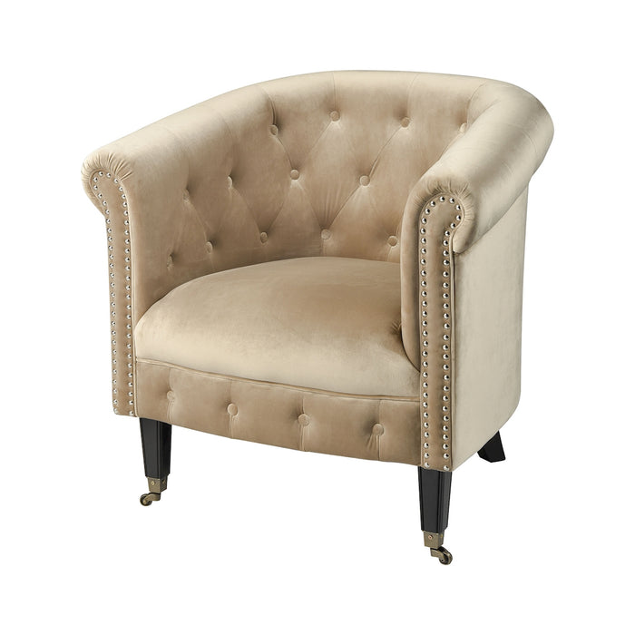 1204-021 Delilah Chair Black, Oyster