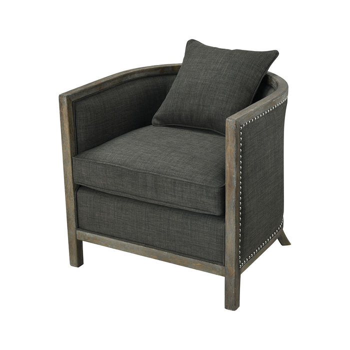 1204-061 Five Boroughs Club Chair Reclaimed Brown, Grey Wood, Forest Floor Linen