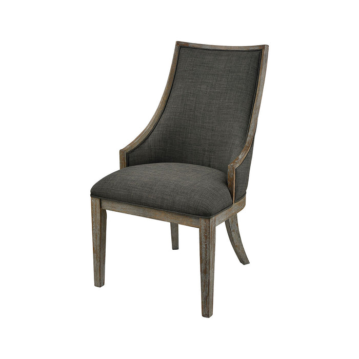 1204-063 Five Boroughs Side Chair Reclaimed Brown, Grey Wood, Forest Floor Linen