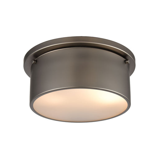 ELK Lighting 12110/2 Flushes 2 Light Flush Mount In Black Nickel With Frosted Glass Black Nickel Free Parcel Delivery