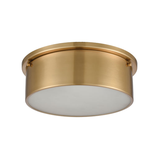 ELK Lighting 12121/3 Flushes 3 Light Flush Mount In Satin Brass With Frosted Glass Satin Brass Free Parcel Delivery