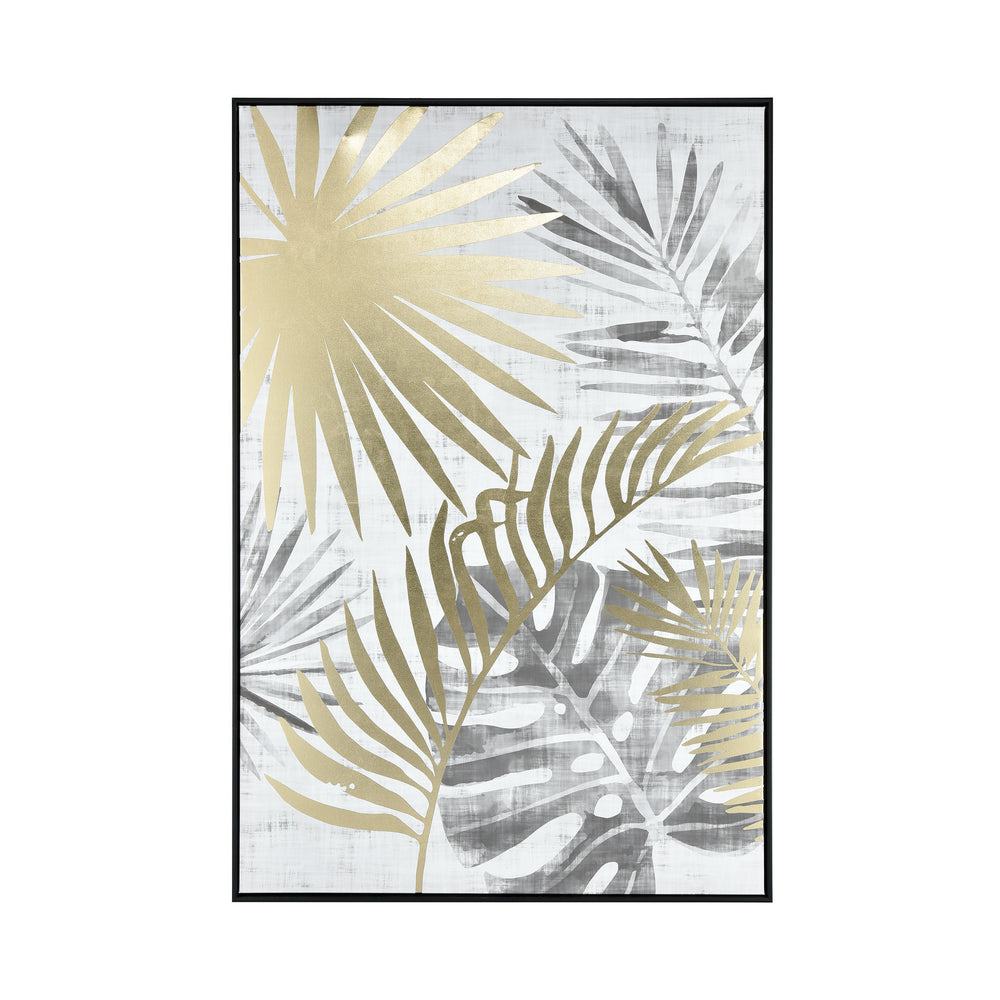 1219-021 Coconut Grove Wall Decor White, Grey, Gold