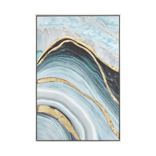 1219-022 Above The Firmament Wall Decor Blue, Green, Gold