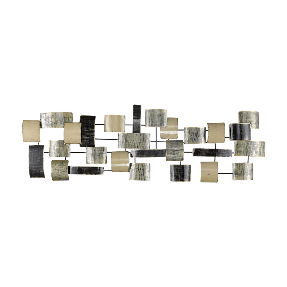 1219-045 Celluloid Jam Metal Art Gilded Cream, Green, Black