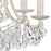 122-021 Mini Chandelier In Antique Cream And Clear Antique Cream, Clear Crystal
