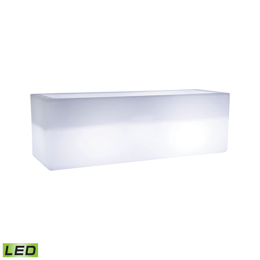 1222-006 Jibe Outdoor Planter - Horizontal White