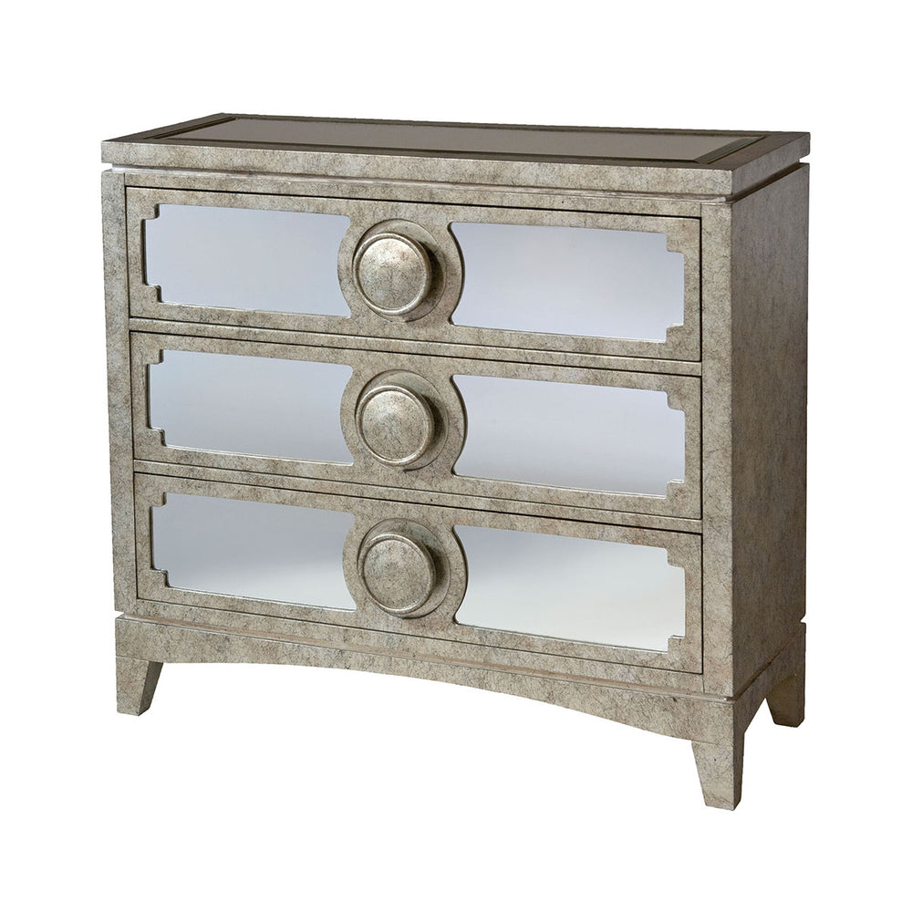 12407 Carlton Chest Black, Champagne, Hand-Painted
