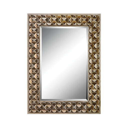 12442 Taber Mirror Antique Gold, Hand-Painted