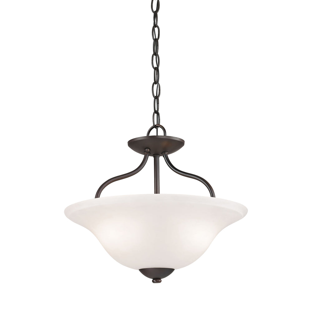 Thomas Lighting 1252CS/10 Conway 2 Light Semi Flush Mount In Oil Rubbed Bronze Oil Rubbed Bronze