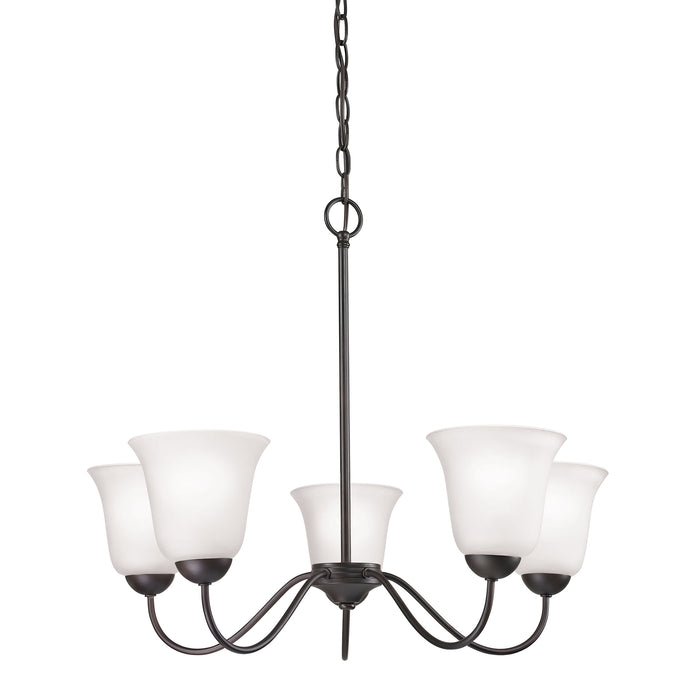 Thomas Lighting 1255CH/10 Conway 5 Light Chandelier In In Oil Rubbed Bronze Oil Rubbed Bronze