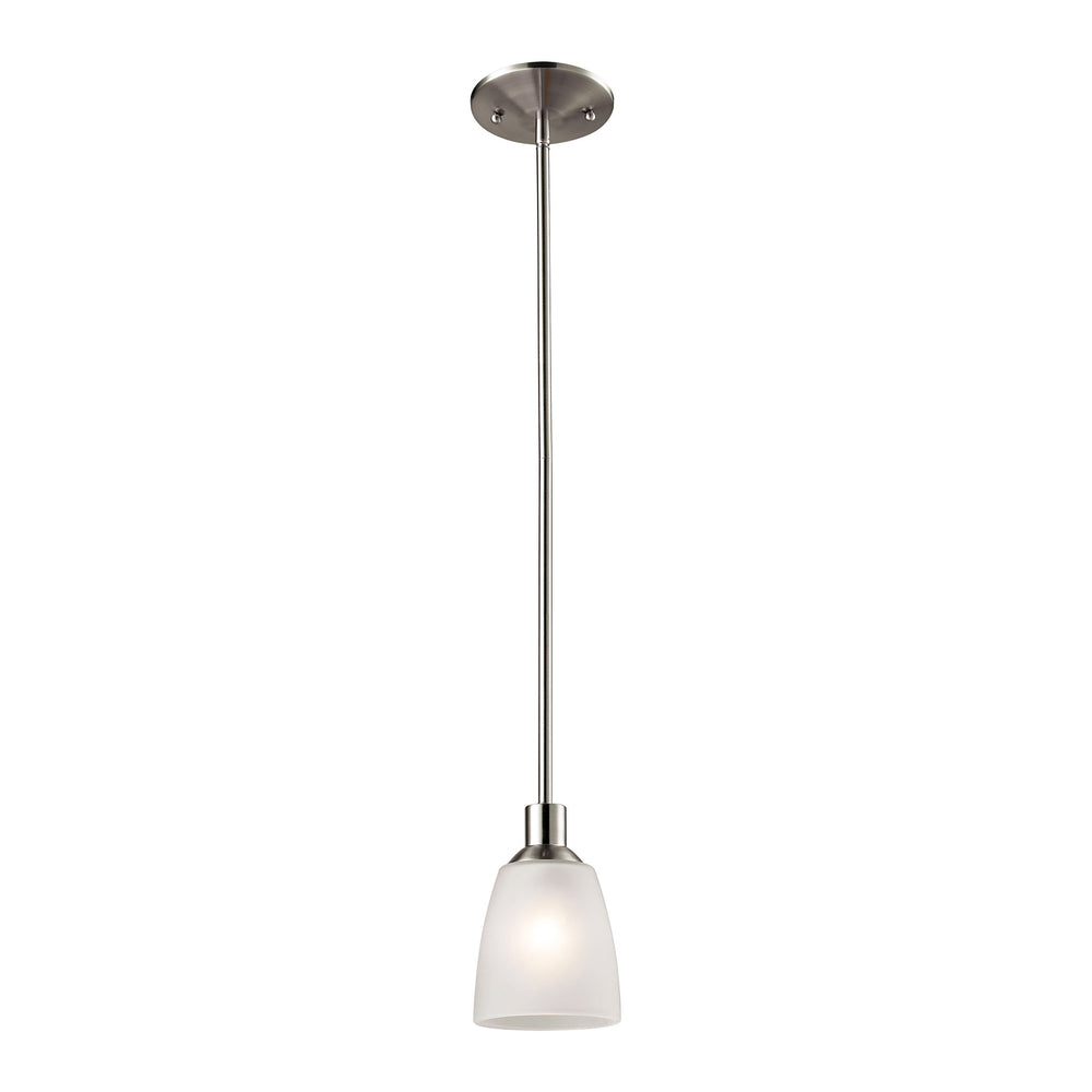 Thomas Lighting 1301PS/20 Jackson 1 Light Mini Pendant In Brushed Nickel Brushed Nickel