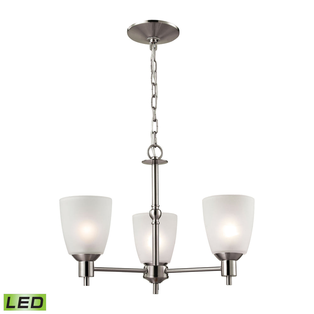 Thomas Lighting 1303CH/20-LED Jackson 3 Light Chandelier In Brushed Nickel Brushed Nickel