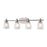 Thomas Lighting 1304BB/20 Jackson 4 Light Bath Bar In Brushed Nickel Brushed Nickel