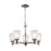 Thomas Lighting 1305CH/20 Jackson 5 Light Chandelier In Brushed Nickel Brushed Nickel