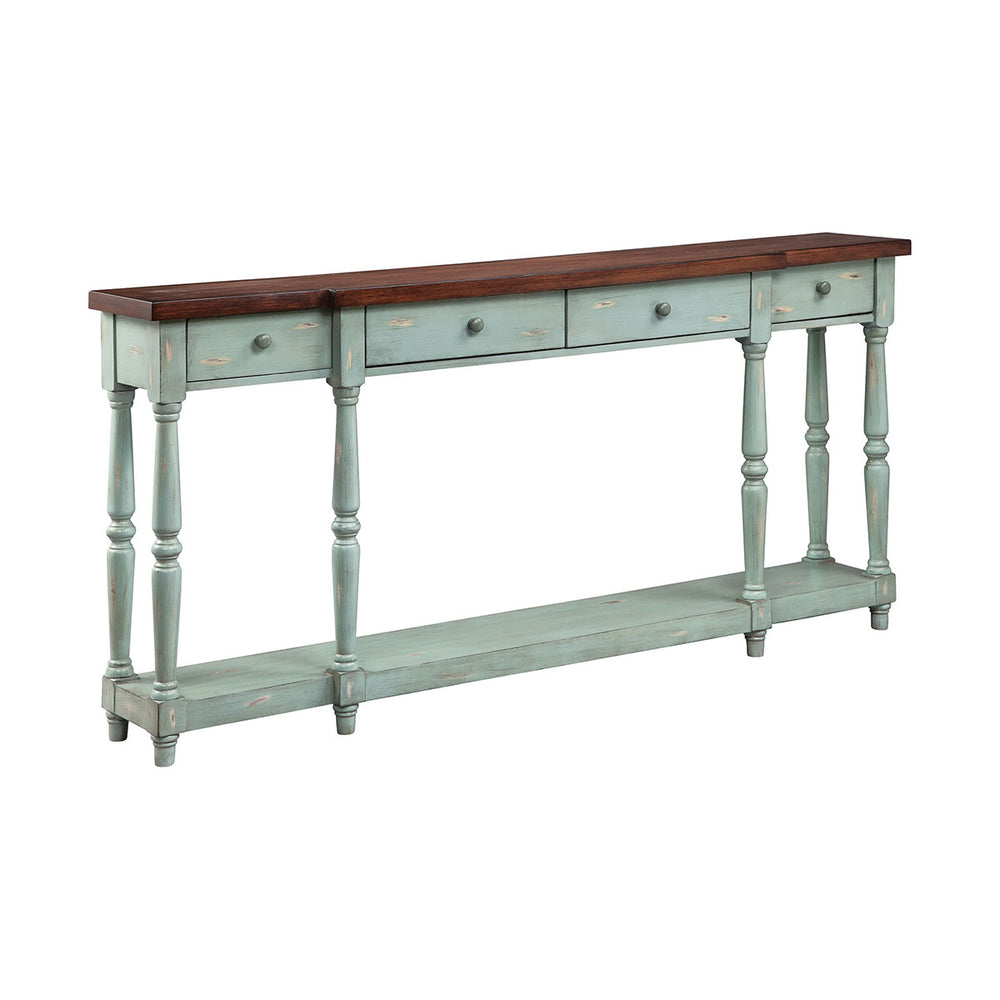 13136 Simpson Console Blue, Hand-Painted