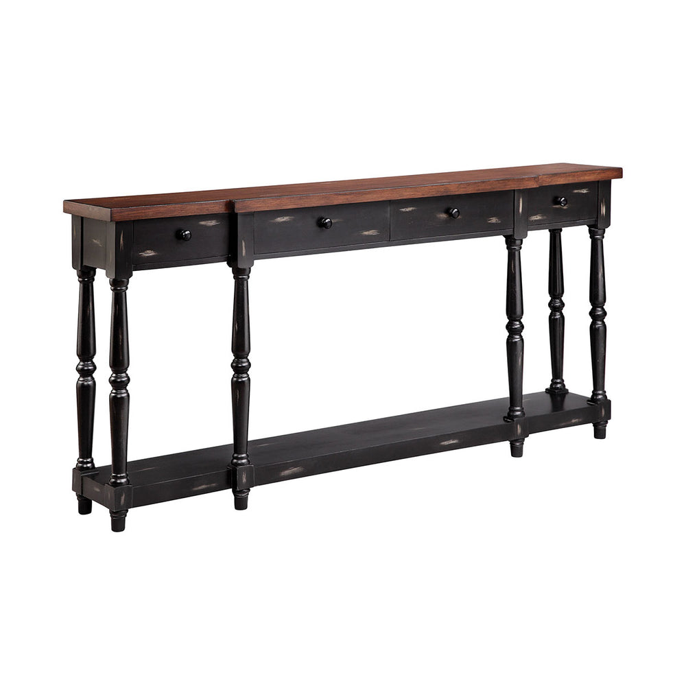 13137 Simpson Console Black, Hand-Painted