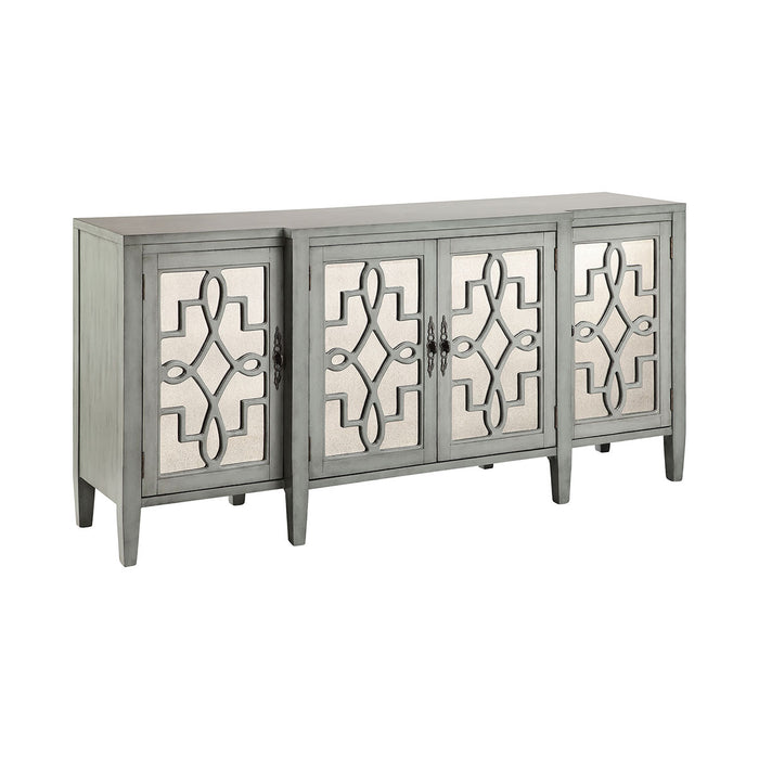 13152 Lawrence Cabinet Blue, Grey, Hand-Painted