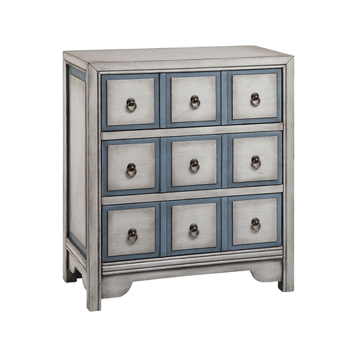 13167 Adley Chest Blue, Bronze, Hand-Painted