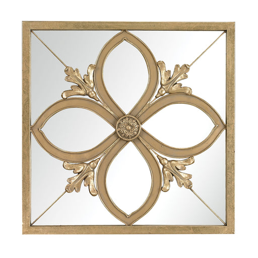 132-009 4 Leaf Clover Mirror Gold Leaf