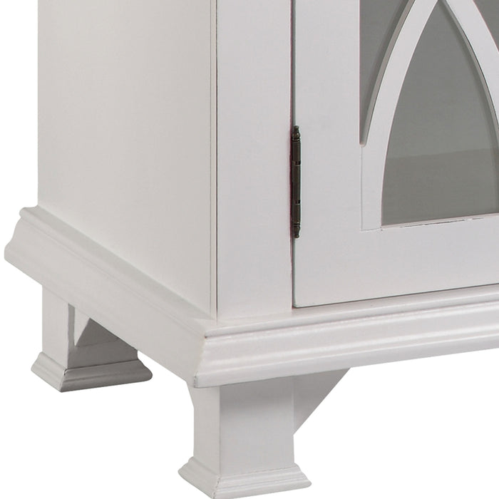 13244 Anastasia Cabinet With Distressed Finish Distressed, Hand-Painted, White