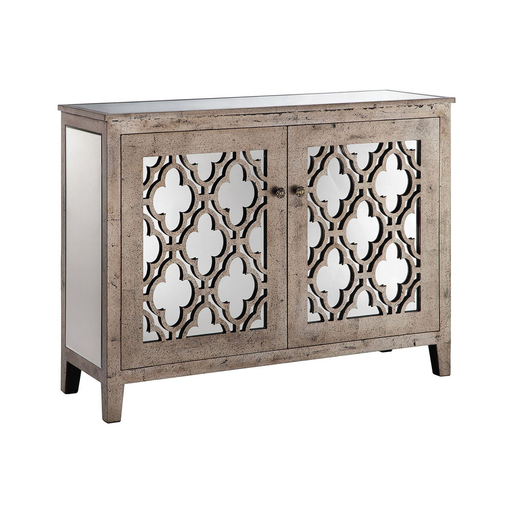 13267 Aimee Cabinet Champagne, Hand-Painted
