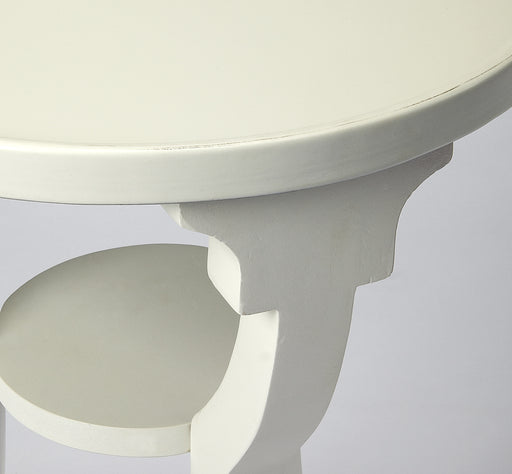 Dalton Cottage White Round Accent Table