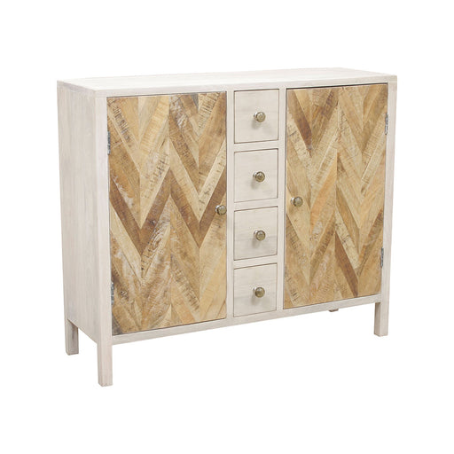13314 Derron Cabinet Hand-Painted, Whitewash
