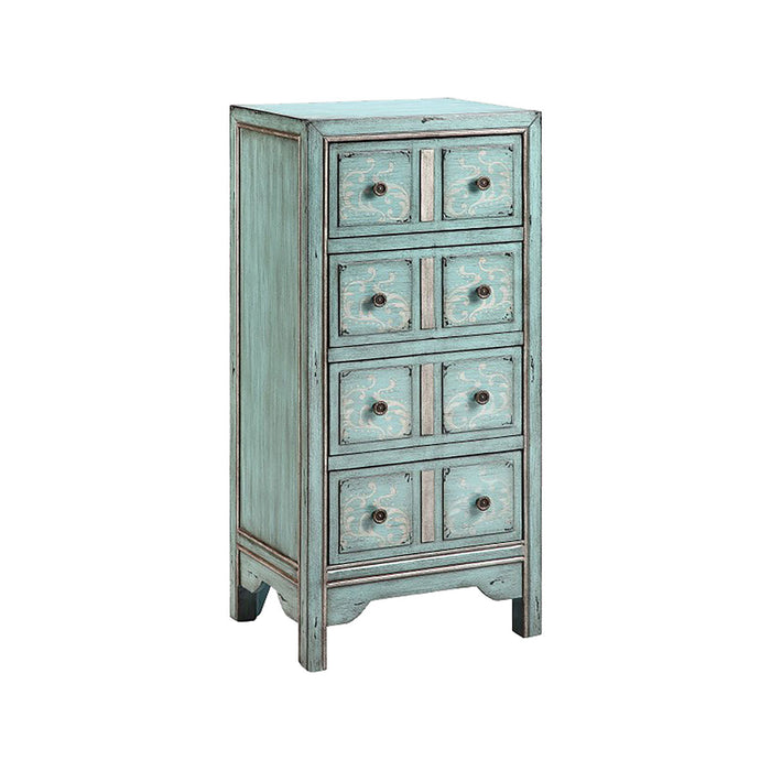 13405 Evelyn Chest Blue, Grey, Hand-Painted