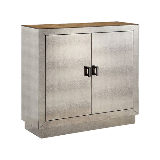 13496 Phipps Mirrored Accent Cabinet Wood Tone