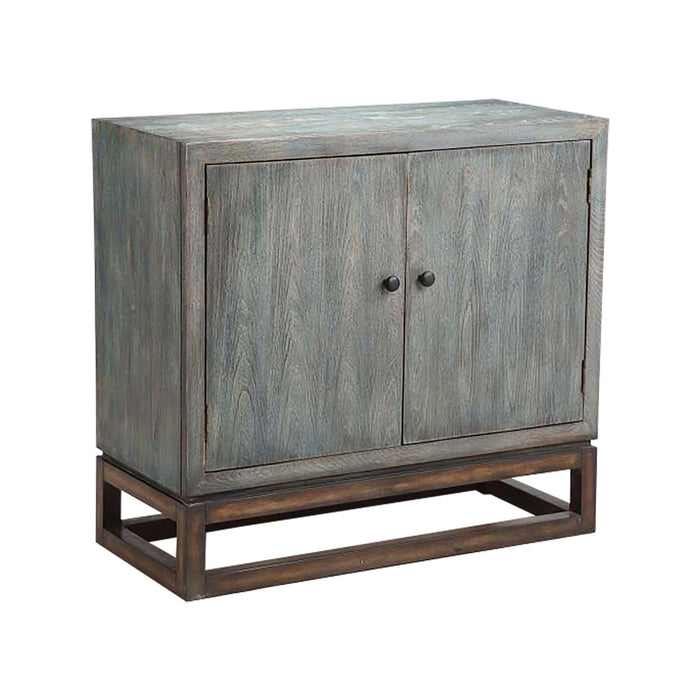 13499 Gary Accent Cabinet Bronze, Grey, Hand-Painted