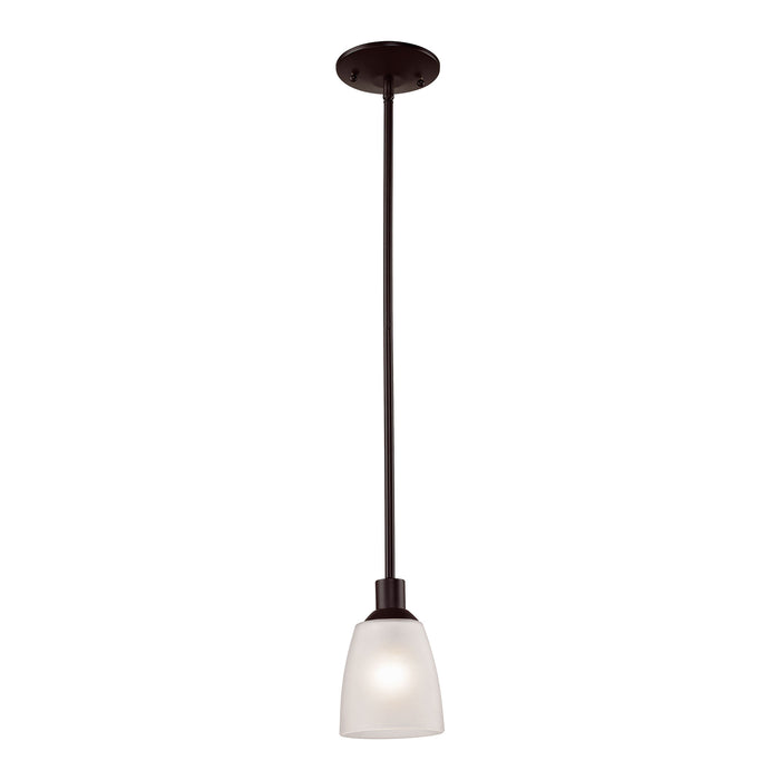 Thomas Lighting 1351PS/10 Jackson 1 Light Mini Pendant In Oil Rubbed Bronze Oil Rubbed Bronze