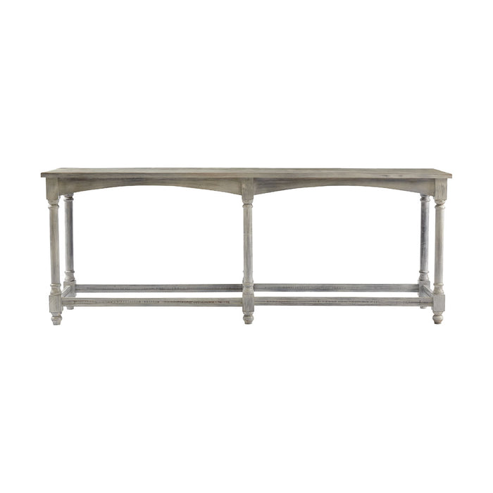 13617 Longbottom Console Table Antique Gray, White