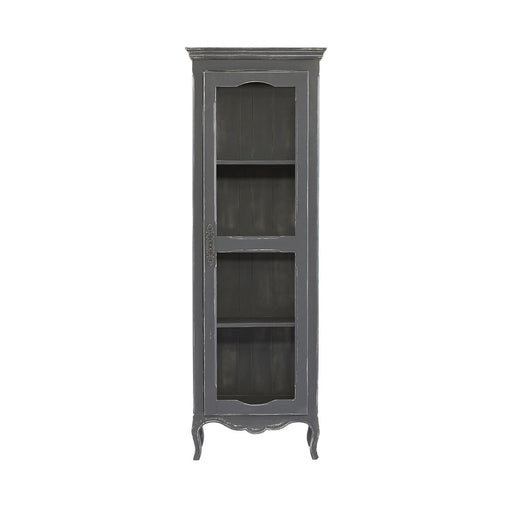 13622 Amal Curio Cabinet Hand-Painted, Sapphire Grey
