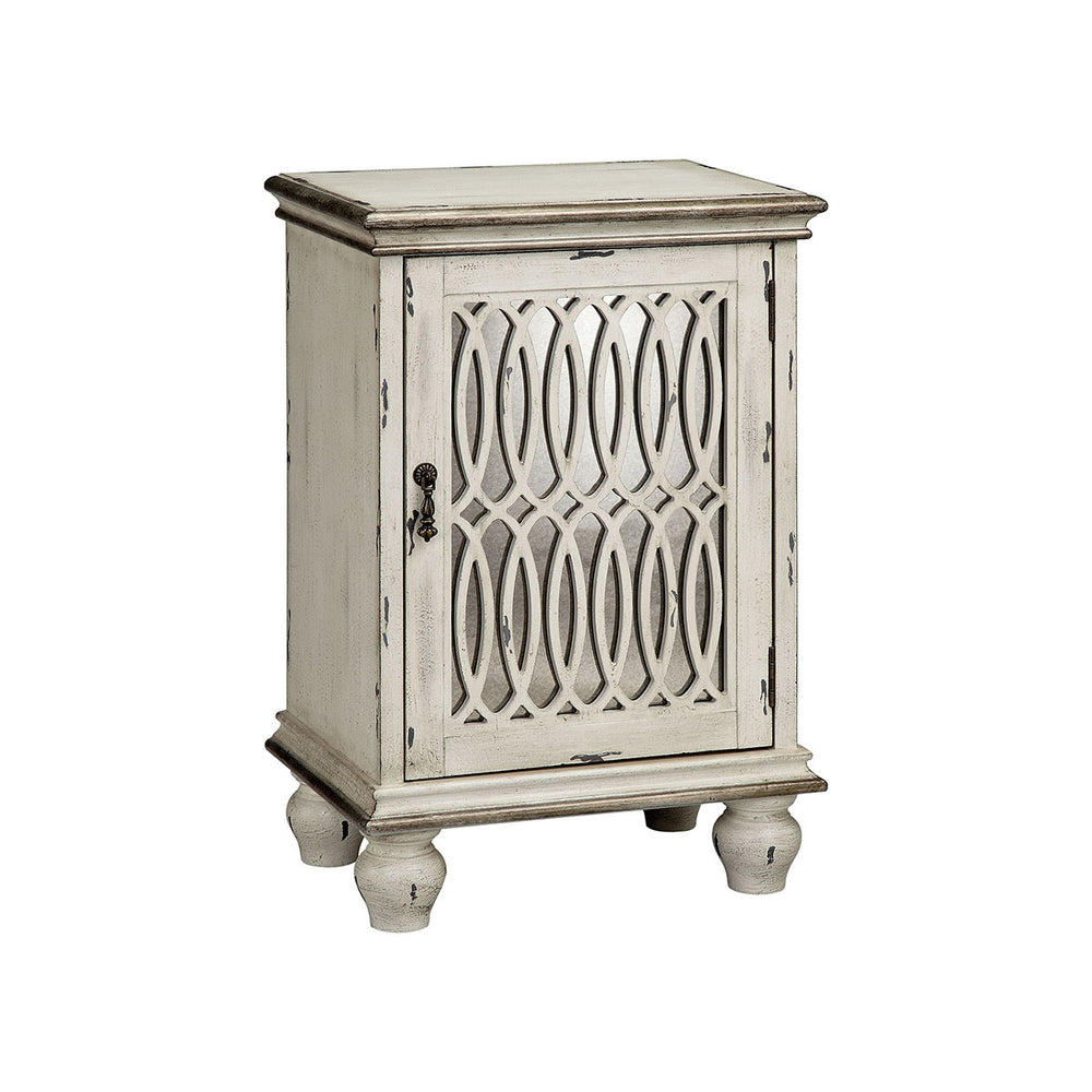 13674 Wiley Cabinet Aged Cream, Hand-Painted