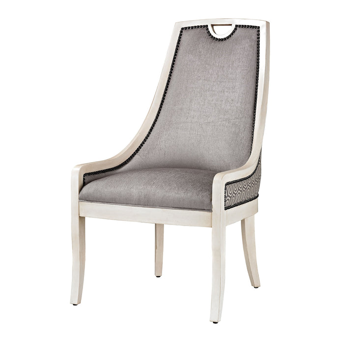 139-005 Stage Dining Chair Grey, Silver, White