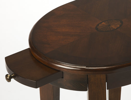 Arielle Chestnut Burl Accent Table
