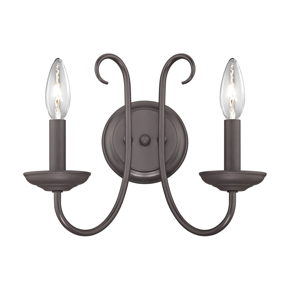 Thomas Lighting 1502WS/10 Williamsport 2 Light Wall Sconce In Oil Rubbed Bronze Oil Rubbed Bronze