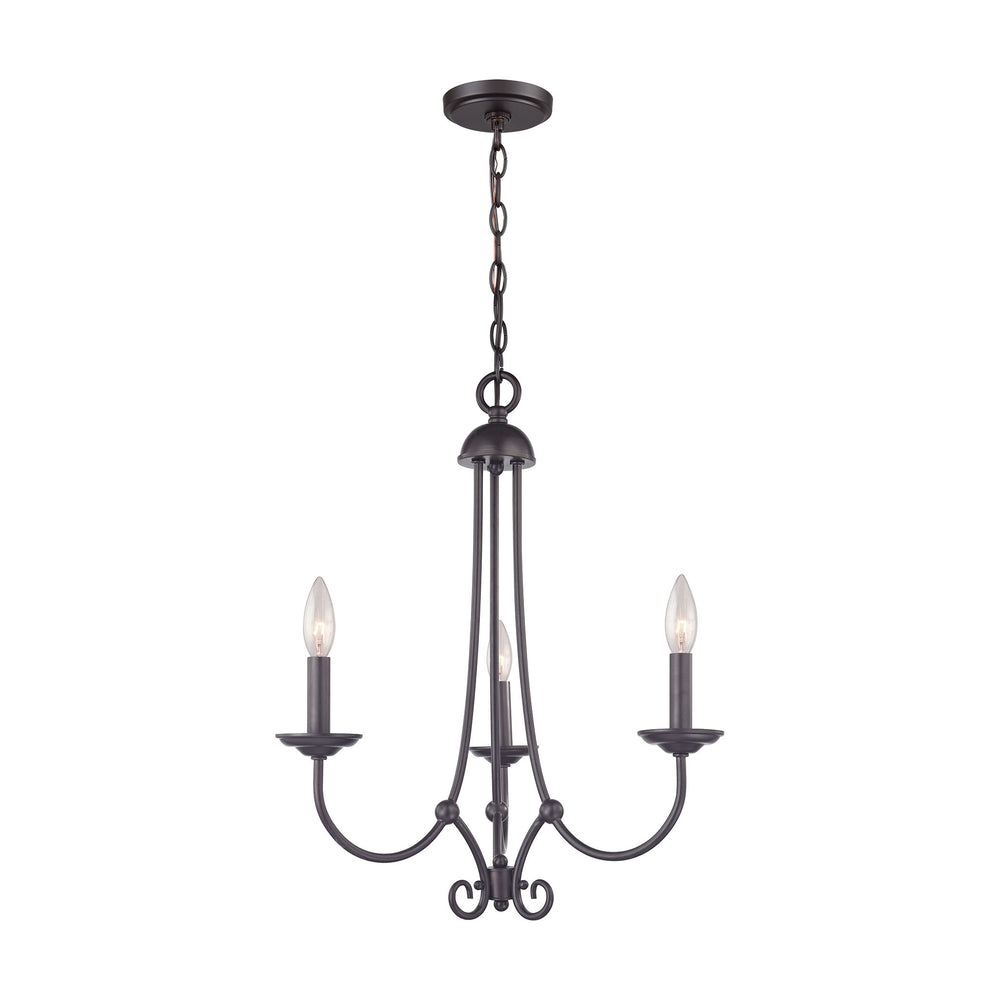 Thomas Lighting 1503CH/10 Williamsport 3 Light Chandelier In Oil Rubbed Bronze Oil Rubbed Bronze