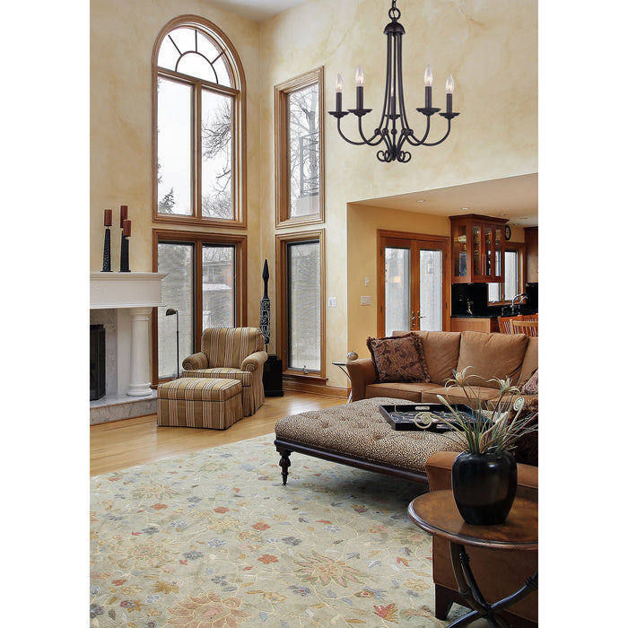 Thomas Lighting 1505CH/10 Williamsport 5 Light Chandelier In Oil Rubbed Bronze Oil Rubbed Bronze