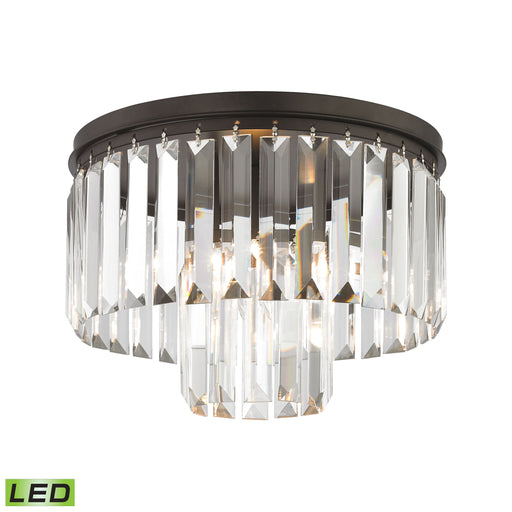 ELK Lighting 15223/1-LED Palatial 1 Light LED Semi-Flush In Oil Rubbed Bronze Oil Rubbed Bronze Free Parcel Delivery