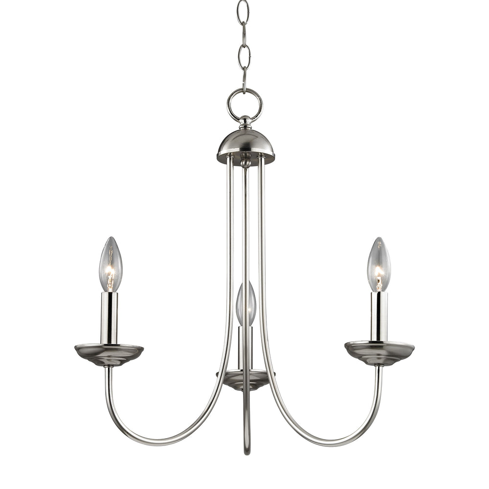 Thomas Lighting 1533CH/20 Williamsport 3 Light Chandelier In Brushed Nickel Brushed Nickel