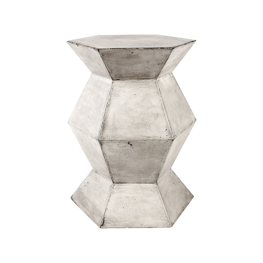 157-016 Flanery Accent Table In Polished Concrete Wax