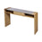 157-044 Tara Console Polished Concrete, Blonde Acacia