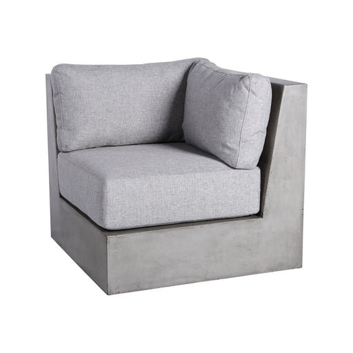 157-050CUSHIONS/S3 Lannister Outdoor Sofa Cushions For Corner Unit - Set of 3 Grey