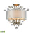 ELK Lighting 16281/3-LED Asbury 3 Light LED Semi-Flush In Aged Silver Aged Silver Free Parcel Delivery